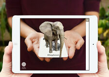 Animal 4D cards and Animal 4D Food Cards Combo, Augmented Reality Flashcards