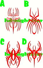 Pinstripe pinstriping spider motorcycle tank fender hood vinyl decal PICK 2