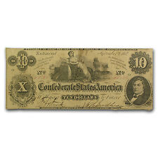 1862 $10 (T-46) Ceres on Cotton Bales Fine - Sku #40257