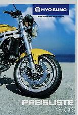 Hyosung lista de precios 2006 motor de moto scooter GT 650 s r 250 125 Aquila karion