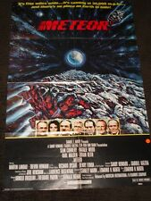 Meteor folded movie promo poster Sean Connery Natalie Wood
