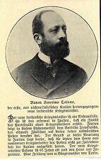 Barone Severino Casana NUOVI ITALIANI GUERRA ministro Histor. memorabilie 1908
