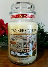 Yankee Candle Bakery Air 22 oz. Large Jar candles NEW pure natural