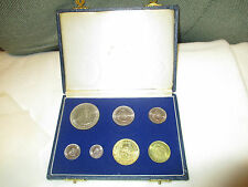 1964 South African 7 Coin Proof Set w/ Original Fliplock Case