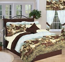 Country Horses Full Comforter, Sheets, Shams & Bed Skirt (8 Piece Bed In A Bag)