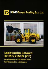 XCMG ZL50G 2015 catalogue brochure loader chargeuse