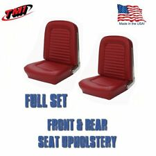 1966 Mustang FASTBACK Front & Rear Seat Upholstery - Red - TMI-IN STOCK!!