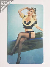 Sexy WW2 Pin Up Girl Airplane Wing Photo Fridge / Toolbox Magnet HOT LOOK@@