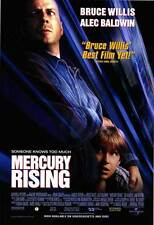 MERCURY RISING Movie POSTER 27x40 Bruce Willis Alec Baldwin Miko Hughes Kim