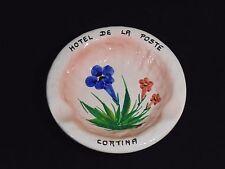 Vintage Hotel De La Poste Cortina Italy La Lucciola Pottery Vicenza Ashtray