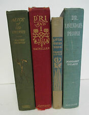 Lot of 4 Antique Illustrated Books with Decorative Covers