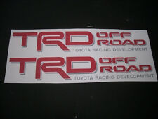 2 Toyota TRD 4x4 Off Road R/G Decals Stickers Tacoma 4runner Tundra