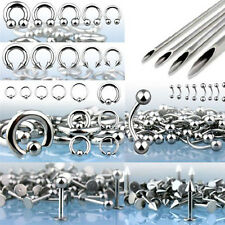 200pcs Pro Piercing Starter Kit 14G 16G 316L Jewelry Piercing Needle Ear Lip