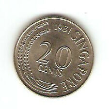 Offer Singapore 20 cents 1981 Fish coin  high grade! ??