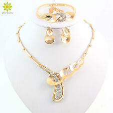 Jewelry Sets Fashion Women Africa Dubai Wedding Alloy Gold Plated Necklace Set