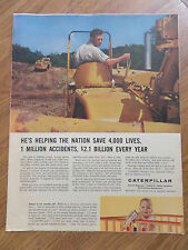 1960 Caterpillar Ad  Building new Interstate System Roads  Earth Moving Equipmen