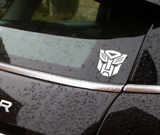 """Transformers vinyl sticker white  4""""high also available in black car/window"""