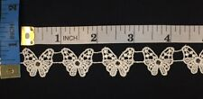 3/4 Detailed Butterfly Venise Lace Trim, 5 Yards