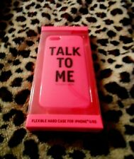 Victoria's Secret Hot Pink TALK TO ME iPhone 5/5S Cover Flex Hard Case Bling