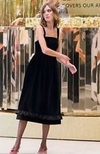 ARCHIVE BY ALEXA CHUNG Vicar Black Dress UK 8 Velvet Retro Pinafore Vintage M&S