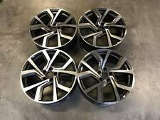 "19"" VW Golf GTi Clubsport Style Wheels Gun Metal Machined Golf MK5 6 7 Audi A3"