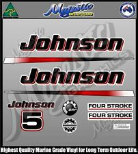 JOHNSON 5 hp - FOURSTROKE - DECAL SET - OUTBOARD DECALS