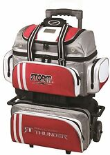 Storm 4 Ball Rolling Thunder Bowling Premium Bag Grey/Red NEW