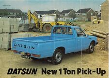 Datsun Nissan 1 Ton Pick Up 1800 1981 UK Market Leaflet Sales Brochure