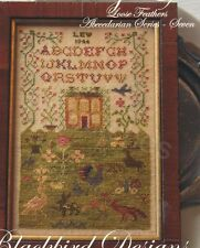 THE COUNTRY LIFE CROSS STITCH SAMPLER BLACKBIRD DESIGNS ABECEDARIAN #7