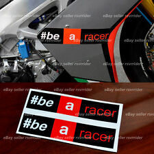 """aprilia racing """" be a racer """" decal sticker fits all rsv4 and other models"""