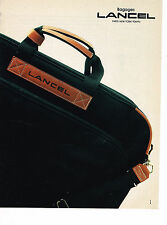 PUBLICITE ADVERTISING 054  1984  LANCEL  bagages de LUXE
