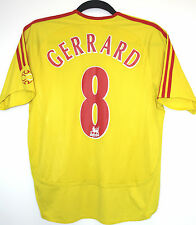 GERRARD 8 Liverpool FC 32-34 2006/2007 football Away Shirt Large boys/Small mens