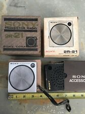NOS Vintage Sony 2R-21 Transistor Radio New In Box W Case Works
