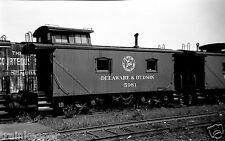 Delaware & Hudson (D&H) Caboose #35981 Black & White Photo
