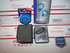 SONY WALKMAN AM/FM RADIO-TV SOUND AND WB- WITH CASE AND  EXTRAS