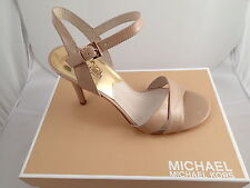 MICHAEL by Michael Kors MK Nude Elisa Patent Leather Sandals sz. 10 FREE GIFT!