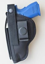 "GUN HOLSTER FOR SPRINGFIELD XDM 3.8"" 9mm or 40 with Built-in Extra Mag Pouch"
