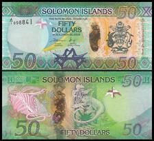 Solomon Islands 50 Dollars ND(2013) UNC**New - Hybrid Polymer