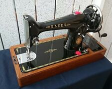 Singer 201k Manivela Semi Industrial Resistente de máquina de coser cuero Denim
