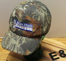 BROWN-STRAUSS STEEL CAMO ADJUSTABLE HAT IN VERY GOOD CONDITION
