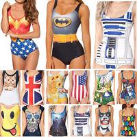 Sexy Womens Ladies Swimming Costume One Piece Monokini Swimsuit Swimwear Bikini