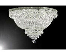 "French Empire Crystal Semi Flush Basket Chandelier Lighting H18"" X W24"""
