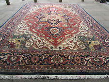 Large OLD HANDMADE IndoPERSIAN ORIENTAL Wool Red Carpet 536x365cm 18'x12'