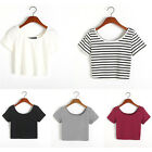 Fashion Women Sexy Short Sleeve Crop Tops Yoga Casual Blouse Vest T-Shirt
