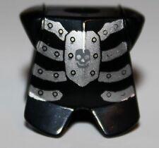 LeGo Castle Black Skeleton Body Armor Silver Skull Minifig Neckgear NEW