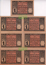 *X767) BRANDENBURG, Berlin - 7er Lot Notgeld - 2 Mark