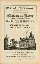 "ADVERT "" Mini Poster "" Vineyard Wine Les Grands Crus Regionaux Chateau du Nozet"