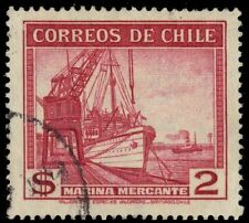 "CHILE 207 (Mi241) - Mercantile Marine Vessels ""1939 Printing"" (pa75691)"