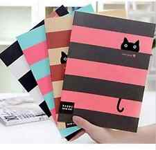 FD1025 Student Diary Note Book Happy Cat Stationery Large Notepad Random 1pc