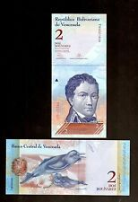 VENEZUELA  IN S. AMERICA, 1 NOTE OF 2 BOLIVARES , 2013, P-88  UNC FROM BUNDLE